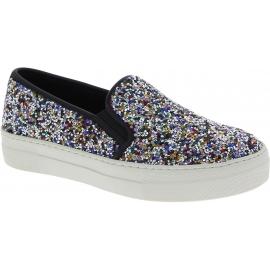 Steve Madden Zapatos slip-on sin cordones para mujer en glitter multicolor
