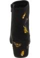 Steve Madden Botines de tacón bordados de moda mujer tela efecto gamuza negra