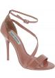 Steve Madden Sandalias de tacón alto correa en el tobillo mujer en charol rosa