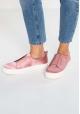 Steve Madden Zapatos slip-on sin cordones con plataforma mujer en satén rosa