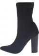 Steve Madden Botas media pantorrilla tacones altos mujer tejido técnico negro