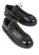 Marsèll Zapatos con cordones mujer en piel de becerro negra hechos en Italia