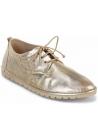 Marsèll Zapatos con cordones punta redonda mujer en piel laminada platinada