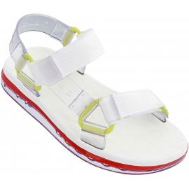 Melissa Sandalias planas para mujer en goma blanca con cierre de velcro