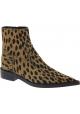 Maison Margiela Botines puntiagudos para mujeres en piel de leopardo