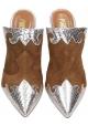 Paris Texas Zapatillas de tacón alto para mujer con puntera gamuza marrón