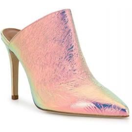 Paris Texas Zapatos mulas de tacón alto mujer en piel laminada rosa claro