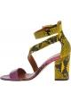 Paris Texas Sandalias de tacón para mujeres en piel de pitón multicolor