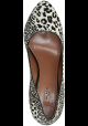 Alaïa tacón bombas de zapatos de cuero de potro de leopardo textura
