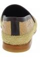 Dolce&Gabbana Mocasines para hombre en piel de cocodrilo beige y morado