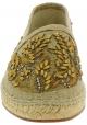 Dolce&Gabbana Espadrillas para hombre en piel de caimán beige tejido con cuentas