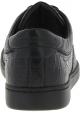 Dolce&Gabbana Zapatillas de hombre piel de caimán negra estampado de cocodrilo