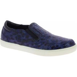 Dolce&Gabbana Zapatillas slip-on hombre estampado de cocodrilo piel caimán azul
