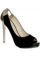 Burakuyan peep toes en gamuza negra