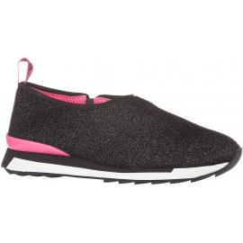 Hogan Zapatos deportivos sin cordones para mujer en tela negra brillante