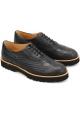 Hogan Zapatos brogues con cordones punta redonda oxford mujer en cuero negro
