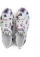 Hogan Zapatillas deportivas de mujer estampado de flores cuero multicolor perlas