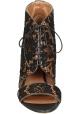 Givenchy alta sandalias de tacón de encaje negro tela zapatos