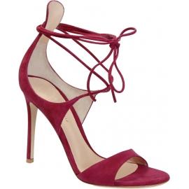 Gianvito Rossi sandalias de tacón de piel de gamuza fucsia