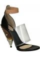 bloque Givenchy sandalias de tacón de piel de becerro negro