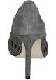 Giorgio Armani gris gamuza cuero tacones abiertos