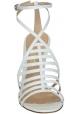 Gianvito Rossi sandalias de tacón de piel de becerro blanco