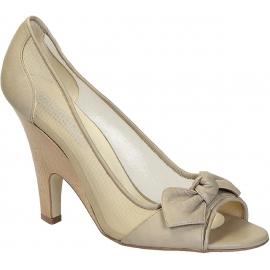 Bombas de dedo del pie de Stella McCartney en color beige de piel sintética