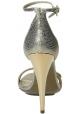 Lanvin sandalias de tacón de piel de becerro metalizada