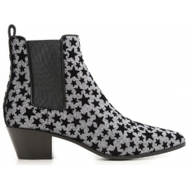 Saint Laurent botines antracita brillo