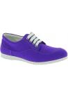 Hogan Zapatillas bajas con cordones para mujer punta redondeada en lona violeta