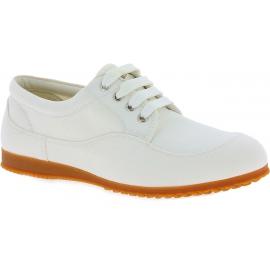 Hogan Zapatillas bajas de punta redonda con cordones para mujer en lona blanca