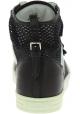 Hogan Zapatillas altas dos tonos para mujer en piel y tela blanca negra