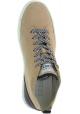 Hogan Zapatillas altas con cordones punta redonda para mujer piel de ante beige