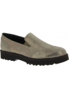 Hogan Zapatos sin cordones mujer en piel de becerro laminada gris metalizada