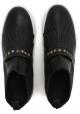 Hogan botas de tobillo para mujer en cuero negro