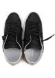 Mujer zapatillas de deporte Philippe Model en cuero negro