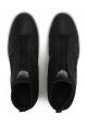 Hogan Rebel mujeres slip-ons zapatillas de cuero negro