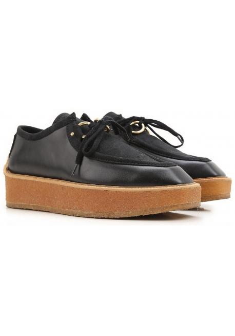 Stella McCartney zapatos para mujer con cordones de encaje negro