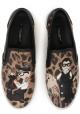 Dolce & Gabbana mujer slip-ons en leopardo Calf cuero