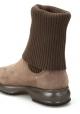 Botas de mujer Hogan con suela interactive en ante y lana color taupe