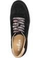Zapatillas deportivas de cuña mujer Hogan en cuero negro con purpurina