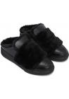 Zapatillas de invierno para mujer Hogan en piel y pelo negro
