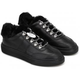 Zapatillas deportivas acolchadas para mujer Hogan en piel negra