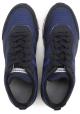 Hogan Rebel hombres bajos azul top / zapatillas de ante