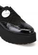 Hogan Zapatos de cuña con cordones para mujer en charol y ante negro