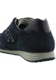 Hogan Zapatillas deportivas de moda para hombre con punta redondeada en piel azul con logo