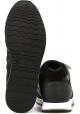 Hogan Zapatillas deportivas de moda para hombre con punta redondeada en piel negra y suela blanca