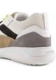 Hogan Zapatillas deportivas para hombre en piel y tejido blanco con cordones y cierre de velcro