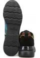 Hogan Zapatillasa deportivas con cuña para mujer en piel color negro con diseño multicolor