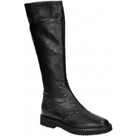 de cuero negro botas hasta la rodilla Giuseppe Zanotti